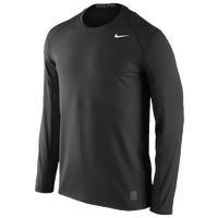 Nike Team Pro Cool Fitted Top - Men's - All Black / Black