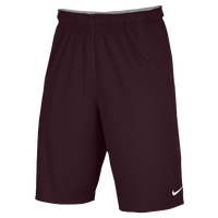 Nike Team Fly Shorts - Men's - Maroon / Maroon