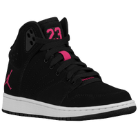 Jordan 1 Flight 4 - Girls' Grade School - Black / Pink