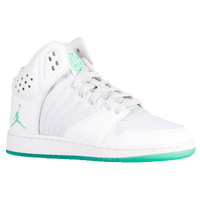 Jordan 1 Flight 4 - Girls' Grade School - White / Light Green