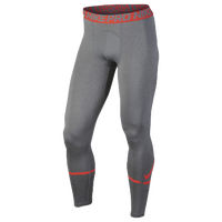 Nike Pro Cool Compression Tights - Men's - Grey / Orange