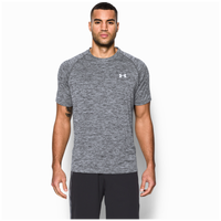 Under Armour Heatgear Tech Shortsleeve T-Shirt - Men's - Black / White