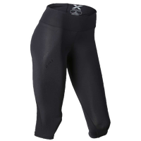 2XU Mid Rise Compression 3/4 Tights - Women's - All Black / Black