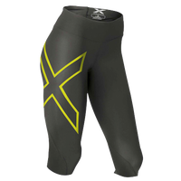2XU Mid Rise Compression 3/4 Tights - Women's - Grey / Light Green