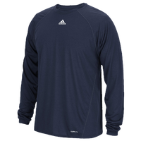 adidas Team Climalite Long Sleeve T-Shirt - Men's - Navy / Navy