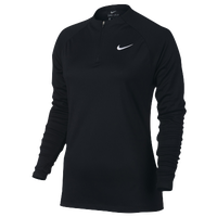 Nike Squad 1/2 Zip Top - Women's - All Black / Black