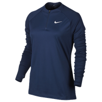 Nike Squad 1/2 Zip Top - Women's - Navy / Navy