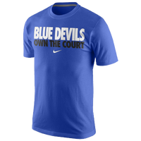 Nike College Own The Court T-Shirt - Men's - Duke Blue Devils - Blue / White