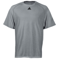 adidas Team Climalite Short Sleeve T-Shirt - Men's - Grey / Grey