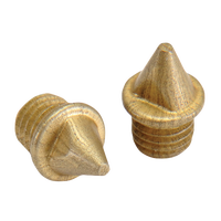 Omni-Lite 5mm Pyramid Spikes Pack of 20 - Gold / Gold