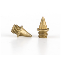 Omni-Lite 7mm Pyramid Spikes Pack of 20 - Gold / Gold