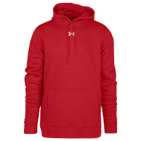 Under Armour Team Hustle Fleece Hoodie - Men's - Red / Red