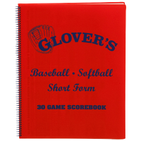 Glover's Baseball/Softball Scorebook Short Form - Red / Blue
