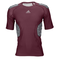 adidas Ironskin 5-Pad Top - Men's - Maroon / Grey