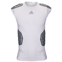 adidas Ironskin 5-Pad Sleeveless Top - Men's - White / Grey