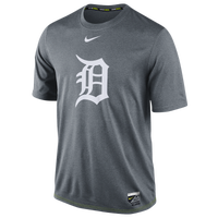 Nike MLB AC Dri-Fit Legend Logo T-Shirt - Men's - Detroit Tigers - Grey / White