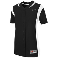 Nike Team Vapor Full Button Jersey - Women's - Black / White