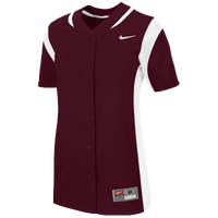Nike Team Vapor Full Button Jersey - Women's - Maroon / White