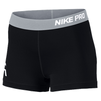 "Nike Pro Cool 3"" Compression Shorts - Women's - Black / White"