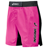 ASICS® Feud Wrestling Shorts - Men's - Pink / Black