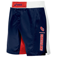 ASICS® Feud Wrestling Shorts - Men's - Navy / Red