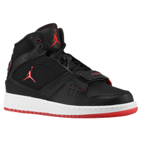 Jordan 1 Flight Strap - Boys' Grade School - Black / Red