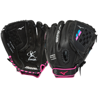 Mizuno Prospect Finch Fastpitch Glove - Girls' Grade School - Black / Pink