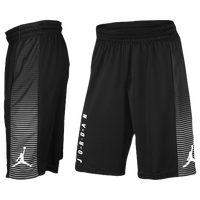 Jordan Game Shorts - Men's - Black / White