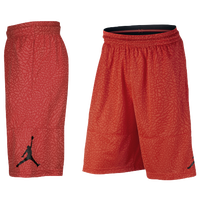 Jordan Ele Print Shorts - Men's - Orange / Black