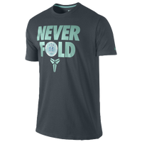 Nike Kobe Never Fold T-Shirt - Men's - Kobe Bryant - Grey / Light Green