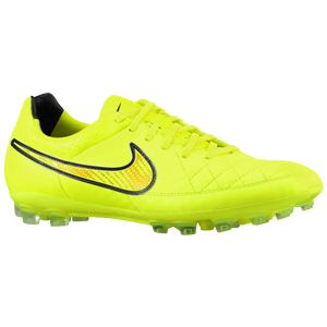 Nike Tiempo Legacy Leather AG - Men's - Volt/Volt/Hyper Punch/Black
