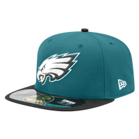 New Era NFL 59Fifty Sideline Cap - Men's - Philadelphia Eagles - Dark Green / White