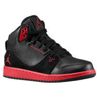 Jordan 1 Flight 2 - Boys' Grade School - Black / Red
