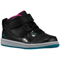 Jordan 1 Flight 2 - Boys' Toddler - Black / Aqua