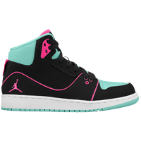Jordan 1 Flight 2 - Girls' Grade School - Aqua / Pink