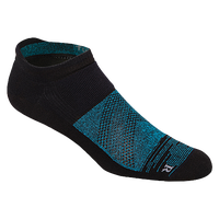 ASICS® Fuzex Graffiti Cushion Single Tab Socks - Black / Light Blue