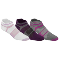 ASICS® Quick Lyte Single Tab 3 Pack Socks - Women's - Purple / White