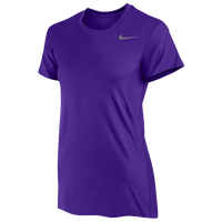 Nike Team Legend Short Sleeve T-Shirt - Women's - Purple / Purple