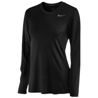 Nike Team Legend Long Sleeve T-Shirt - Women's - All Black / Black