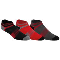 ASICS® Quick Lyte Cushion Single Tab 3 Pack Sock - Men's - Red / Black