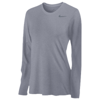 Nike Team Legend Long Sleeve T-Shirt - Women's - Grey / Grey