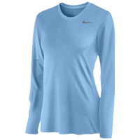 Nike Team Legend Long Sleeve T-Shirt - Women's - Light Blue / Light Blue