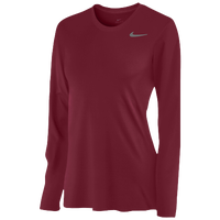 Nike Team Legend Long Sleeve T-Shirt - Women's - Pink / Pink