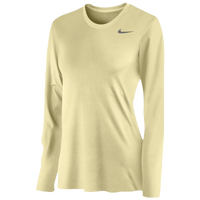 Nike Team Legend Long Sleeve T-Shirt - Women's - Gold / Gold