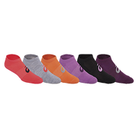 ASICS® Invasion No Show 6 Pack Socks - Women's - Multicolor / Multicolor