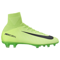 Nike Mercurial Superfly V FG - Boys' Grade School - Light Green / Black
