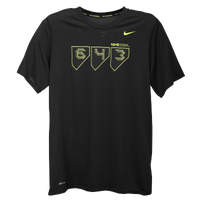 Nike Baseball Legend T-Shirt - Men's - Black / Light Green