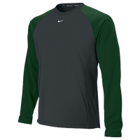 Nike Team Shield Therma-Fit Crew 1.5 - Men's - Grey / Dark Green