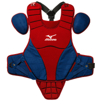 "Mizuno Samurai 14"" Chest Protector - Youth - Red / Navy"