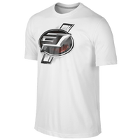 Jordan CP3 Emblem T-Shirt - Men's - White / Red